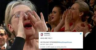 Oscars Meme - meryl streep revived her own meme at the oscars and people were
