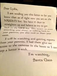 mom forges letter from santa to scare misbehaving child