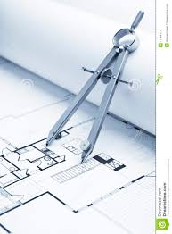 blueprint floor plans drawing compass on blueprint floor plans stock image image 11184371