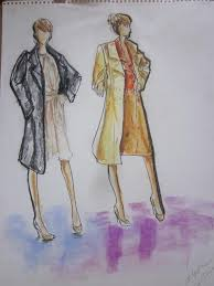 live model sketches alysha caine fashion design