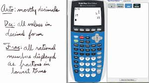 mode 11 auto decimal fraction ti 84 calculator mode youtube