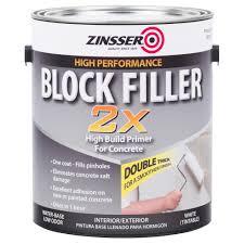 zinsser 1 gal block filler 2x primer case of 2 293245 the