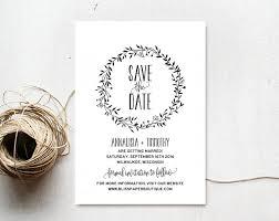 save the date template save the date template save the date printable rustic save the