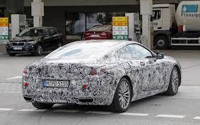 bmw 8 series coupe prototype puts on production lights