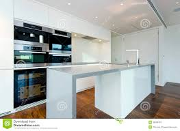 Contemporary Kitchen Contemporary Kitchen With Top Spec Appliances Stock Image Image