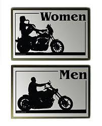 amazon com motorcycle vintage retro look restroom signs