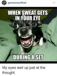 My Eyes Meme - gymmemes official when sweat gets in your eye during a set my eyes