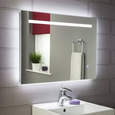 Illuminated Bathroom Mirrors Large Led Illuminated Bathroom Mirror Bathroom Mirrors