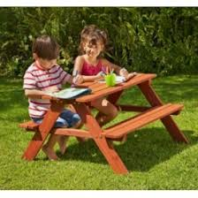 childrens wooden picnic table benches chad valley wooden picnic bench 19 99 argos