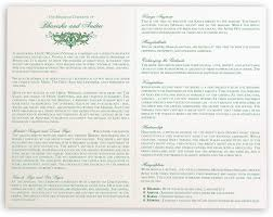 One Page Wedding Program Moon Bloom Wedding Ceremony Programs Documents And Designs