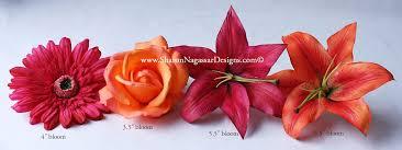 Asian Lilies Sharon Nagassar Designs Silk Latex Real Touch Custom Wedding