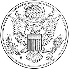 presidential seal coloring page coloring home