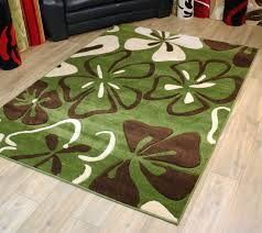 Modern Green Rugs by Modern Style Rugs Fleur Rosina Green Cream 160cm X 220cm 59 95
