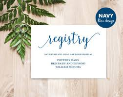 wedding registry invitation printable wedding registry card template printable rustic