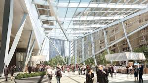Sports Authority Winter Garden - boston properties gets design ok for glass atrium at 100 federal