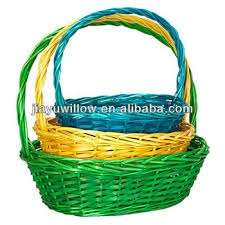 wicker easter baskets 3pc colored cheap wicker easter baskets wholesale buy cheap