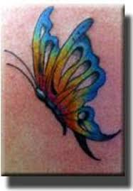 rainbow butterfly tattoos