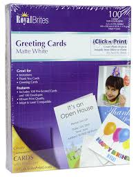 royal brites blank matte greeting cards with