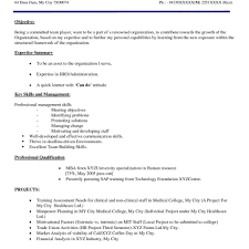 Mba Resume Format by Resume Format For Freshers Sample Resume Doc Format Resume Format