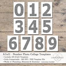 8 5 X 11 Photo Album 8 5x11 Photo Template Pack Numbers Template Pack Number