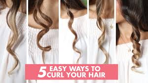 different ways to curl your hair with a wand 5 easy ways to curl your hair luxy hair youtube