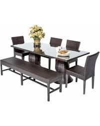 Outdoor Dining Area With No Chairs Slash Prices On Saturn 6 Outdoor Dining Table Set No Cushions