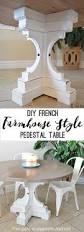 Free Plans For Round Wood Picnic Table by Farmhouse Style Round Pedestal Table Her Tool Belt