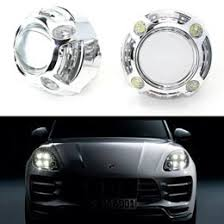 porsche cayenne headlights porsche style cree led drl shroud bi xenon projector lens for hid