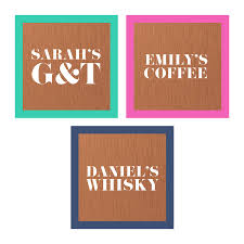 personalised solid copper drink coaster by oakdene designs