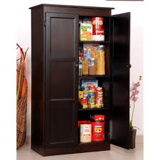 Kitchen Storage Cabinets Free Standing Corner Portable Pantry Cabinet With Beadboard Door And Open Racks