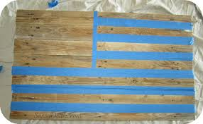 Decorative Flags For The Home Diy How To Make An American Flag Out Of A Wood Pallet Step By