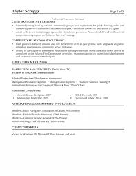 Sample Resume Objectives For Volunteer by Firefighter Resume Objective Free Resume Example And Writing