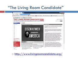 the livingroom candidate mass media just how much influence should they ppt