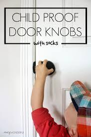 crazy wonderful child proof door locks with socks kid stuff