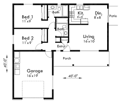 house plans 2 bedroom house floor plans with garage lakeside
