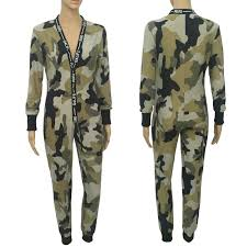 camouflage jumpsuit womens camouflage bodycon sleeve jumpsuit bodysuit onesies
