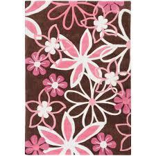 Kids Pink Rugs by Floors U0026 Rugs Beautiful Chocolate 3x5 Rugs With Pink Floral