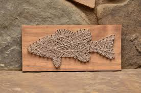 bass fishing home decor fish art string art fishing gifts gifts for him