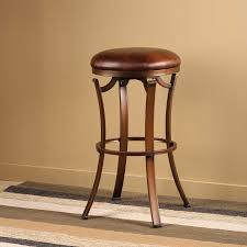 brown high gloss finish oak wood bar stool without backrest using