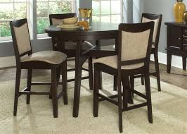 oval pub table set oval pub table 5 piece dining set in espresso finish by liberty