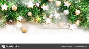 holiday background frame fir tree branches golden christmas