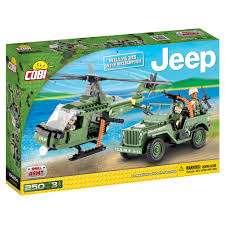 cobi small army jeep willys mb with helicopter construction blocks