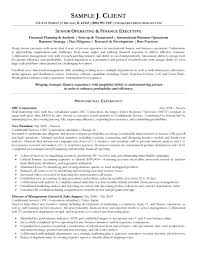executive cover letter sle resume closing sle finance resume template senior operating and