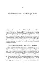 3 skill demands of knowledge work research on future skill