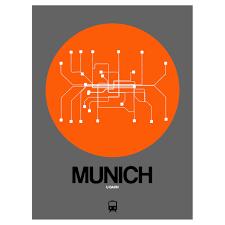 Munich Subway Map by Munich Subway Map Orange Subway City Maps Touch Of Modern