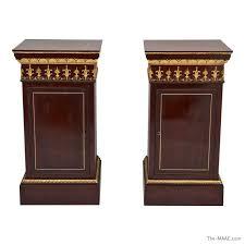 Pedestal Cabinets Pair Of Wood Pedestal Cabinets Manhattan Art And Antiques Center