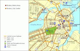 boston city map grolier atlas