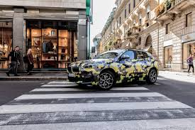 2018 bmw x2 parades new camouflage on the streets of milan