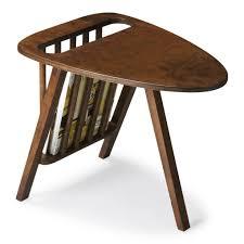 Sofa End Tables Furniture Vintage Sofa Side Table Magazine Rack Feat Polished