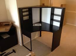 Corner Desks For Home Office Ikea Furniture Ikea Corner Desk Black Gorgeous 12 Ikea Black Corner